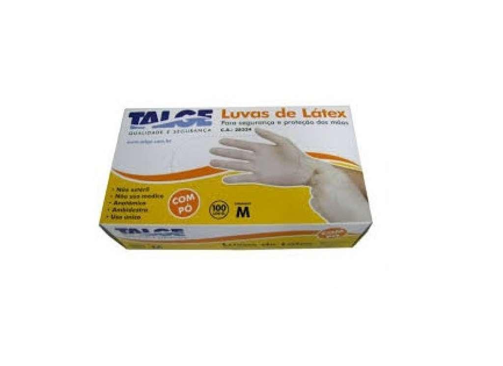 0951d2705f4f5 TALGE - LUVA LATEX TALCADA M CX C 1X10X100 UN